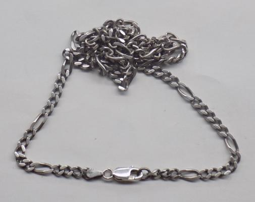 "925 Italian curb link chain, approx. 22"" long"