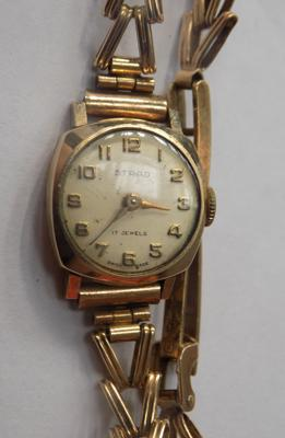 Art Deco style watch 9ct gold