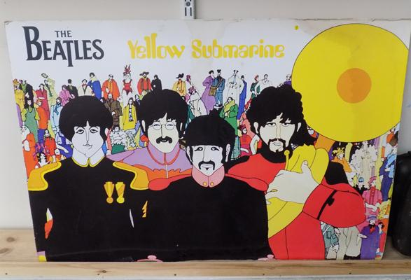 "Beatles - Yellow Submarine poster, approx. 35"" x 24"""