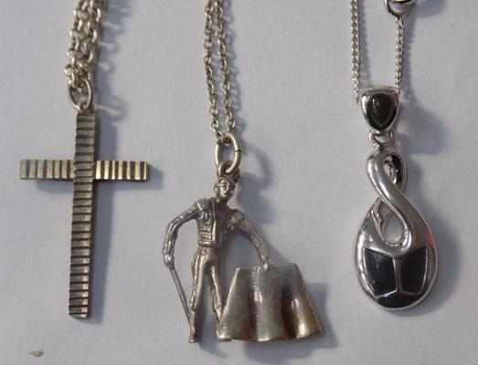 Selection of silver necklaces