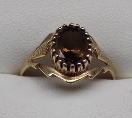Smoky quartz ring size App P