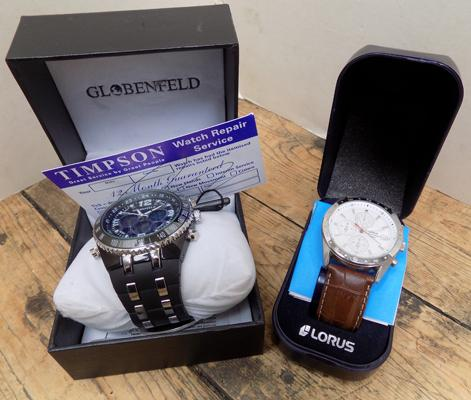 2x Watches-Blumenfield multi function (lifetime battery guarantee) & Lorus chronograph