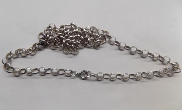 "925 silver belcher chain, approx. 24"" long"