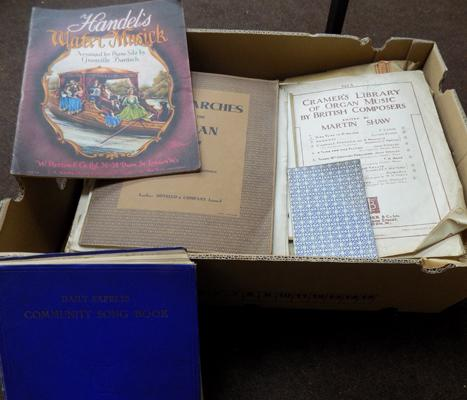 Box of sheet music