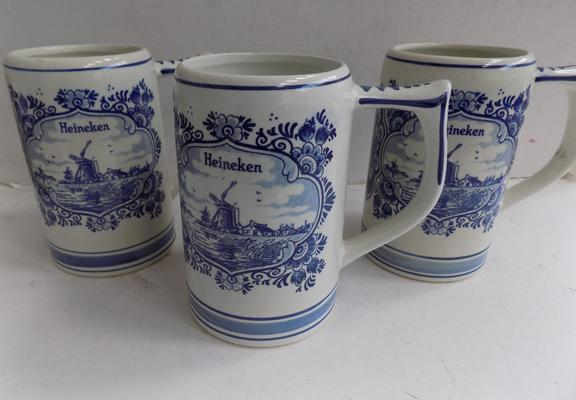 3x Delft tankards-RAF Wildenrath logo