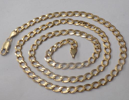 Heavy 9ct gold neck chain, 16.5g