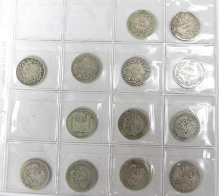Collection of one shillings 1896-1917