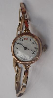 9ct Gold watch-gold strap