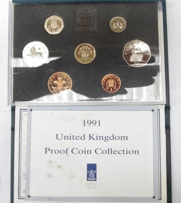 1991 UK proof coin set collection
