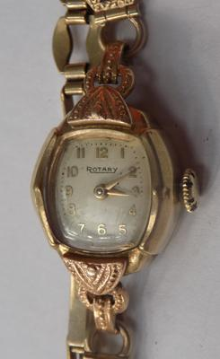 9ct Gold Art Deco Rotary watch