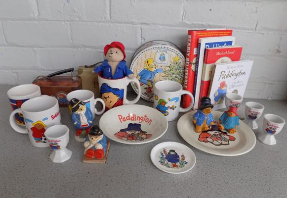 Large collection of Paddington Bear collectables