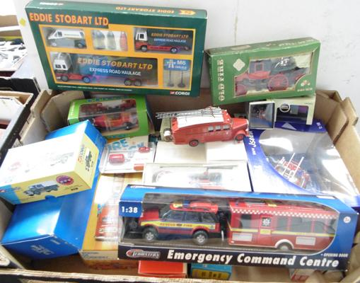 Box of mixed fire vehicles & others