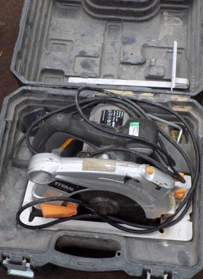 Titan 240V circular saw in case