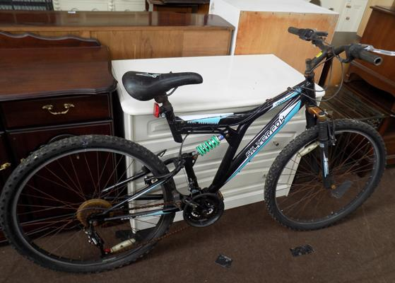 Gents/boys silver fox mountain bike-full suspension