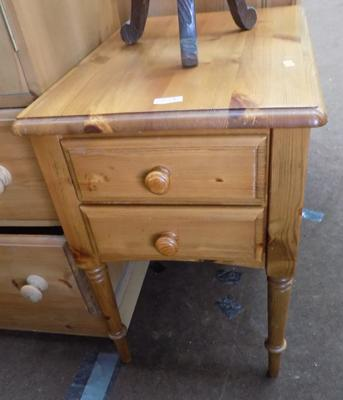 2 drawer pine unit