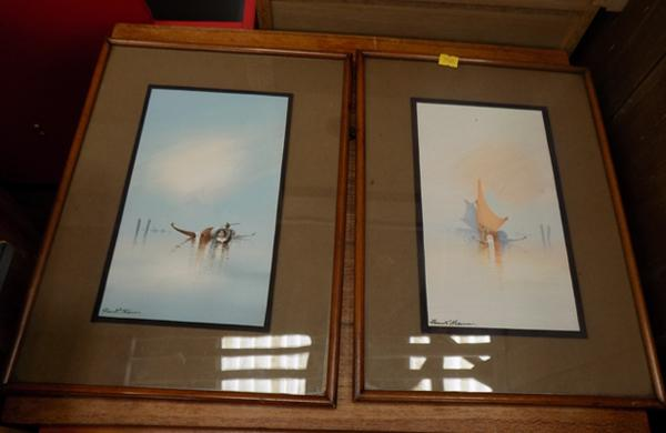 2x Holmes framed pictures