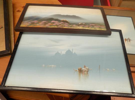 2x Framed paintings  (1 by F Holmes)