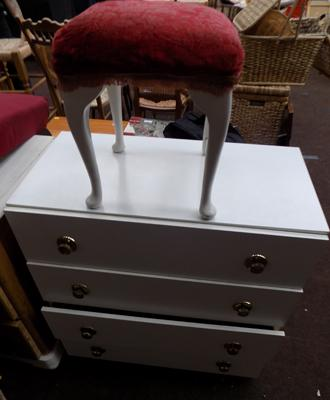 Chest of drawers + bedroom stool