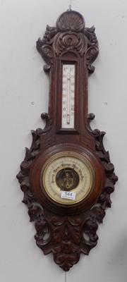 Carved barometer