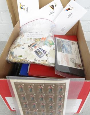Large book of stamps, albums, sheets of stamps etc