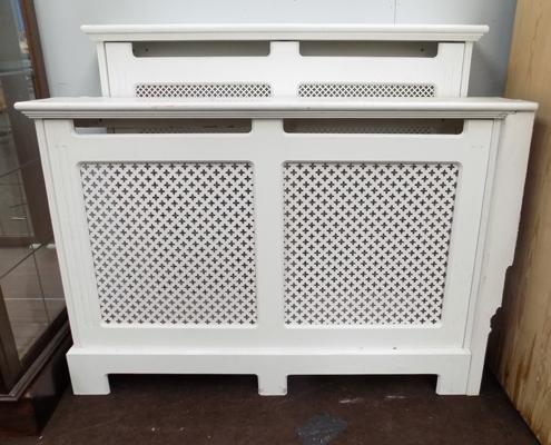 "2 radiator covers, sizes 46"" and 39"""