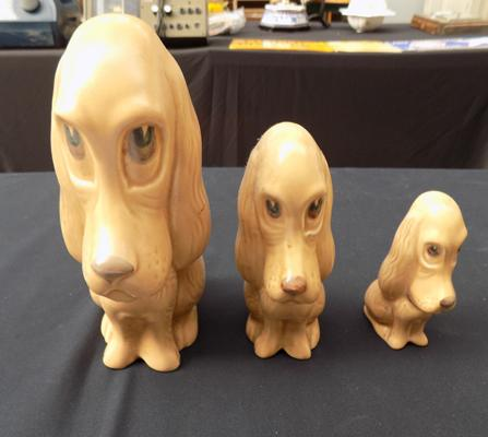 Set of three Sylvac dogs