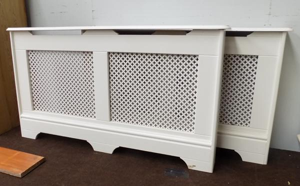 "2 radiator covers, sizes 57"" and 51"""