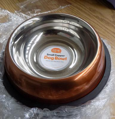 16 new copper dog bowls
