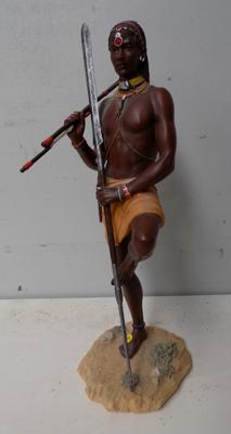 Large Maasai figurine - ' The Watchful Warrier'