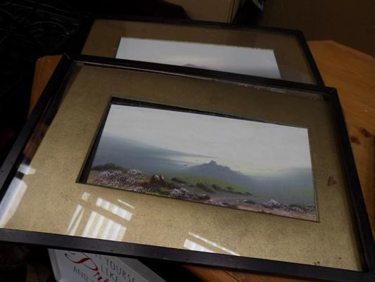 2x Framed paintings by F Holmes (frames at fault)