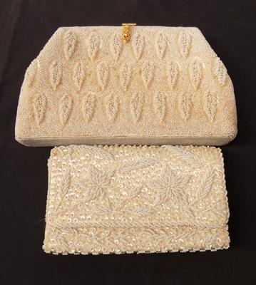 Two vintage clutch bags