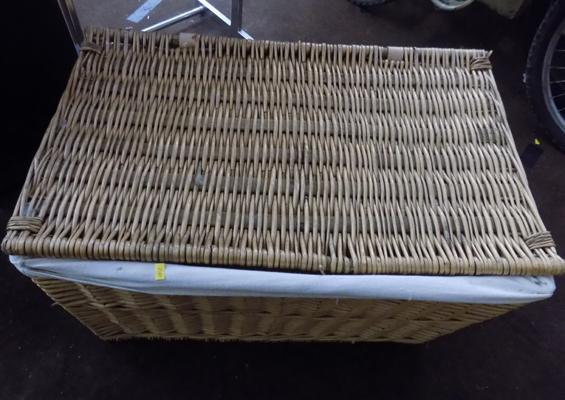 Large wicker launderette basket