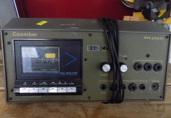 Old Coomber army cassette player