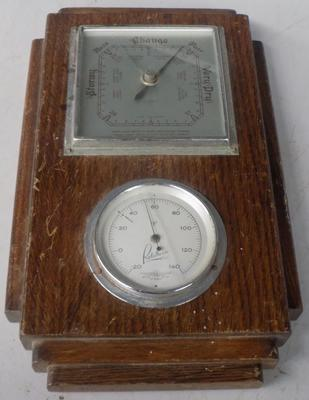 Art Deco Rototherm barometer & thermometer