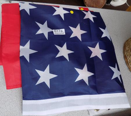 Four new large America Stars & Stripes flags