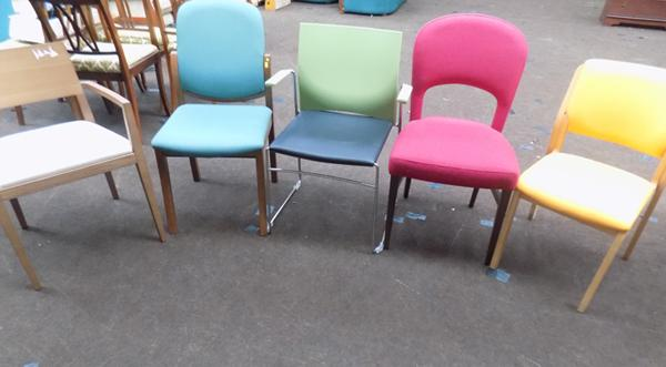 Selection of 5 new and occasional chairs