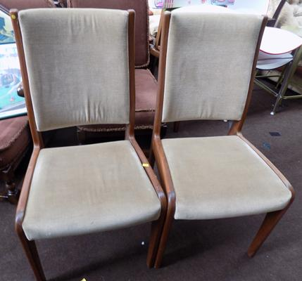 Two G Plan chairs (labels on base)