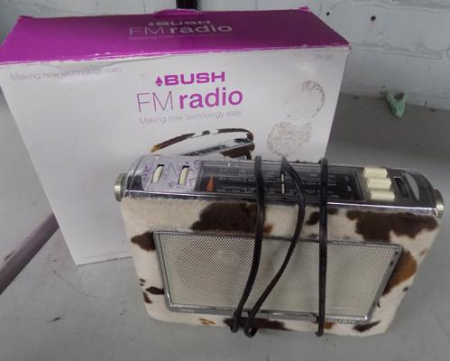 Bush FM radio in cow skin, W/O