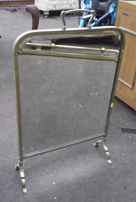 Brass/mirrored fire screen
