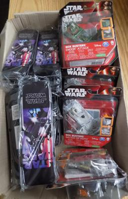 Box of new Star Wars items