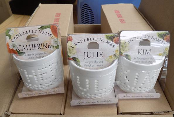 Box of new candle sets