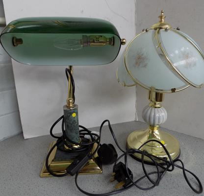 2 lamps (1 desk lamp)