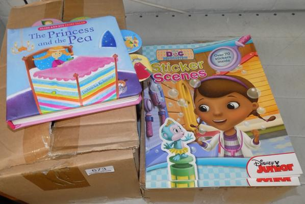 2 boxes of new kids books