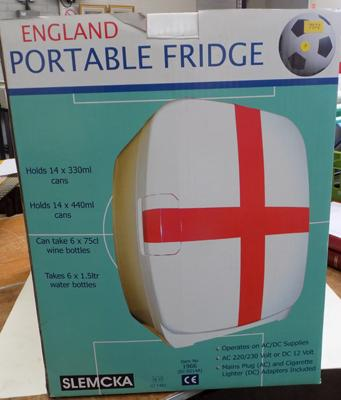 Portable 'England' fridge in box