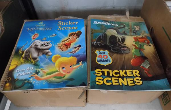 2 boxes of new kids sticker books