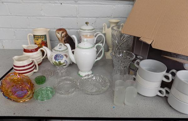 Large box of mixed collectables inc ceramics