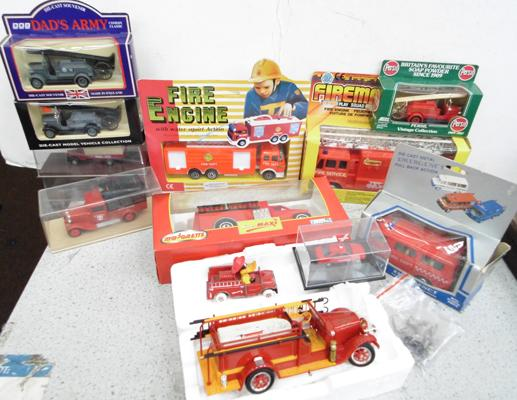 Box of mixed fire vehicles