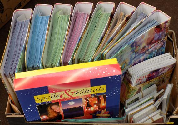 Full collection of Mind Body Spirit - folders, candles etc...