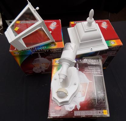 Three wall lights- boxed