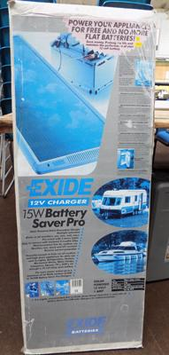 Battery saver Pro 12 volt solar charger in box